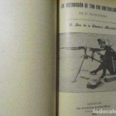 Militaria: 1911 LA INSTRUCCION DE TIRO CON AMETRALLADORAS EN EL EXTRANJERO LUIS DE LA GANDARA MARSELLA. Lote 180033786