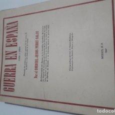 Militaria: GUERRA EN ESPAÑA 1936 1939 PEREZ SALA. Lote 180190963