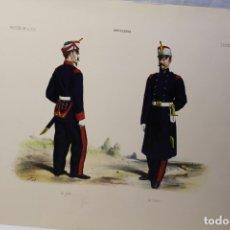 Militaria: TRES LÁMINAS UNIFORMES DEL EJÉRCITO ESPAÑOL DE ARTILLERÍA. Lote 180841797