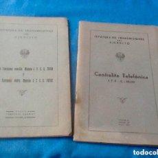 Militaria: JEFATURA DE TRANSMISIONES DEL EJÉRCITO LOTE DE DOS LIBROS, 1944. Lote 182771078