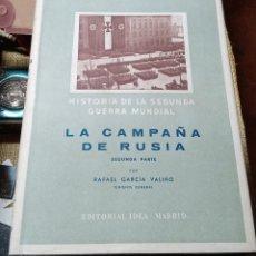 Militaria: HISTORIA DE LA SEGUNDA GUERRA MUNDIAL. EDIT IDEA. 1948. 11 TOMOS. W. Lote 183255877