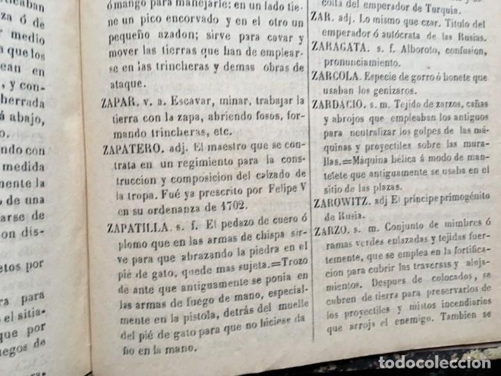 Militaria: DICCIONARIO MILITAR - 1863 - J.DW.M. - Foto 8 - 184053332