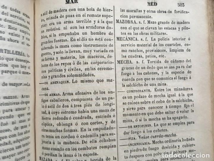 Militaria: DICCIONARIO MILITAR - 1863 - J.DW.M. - Foto 10 - 184053332