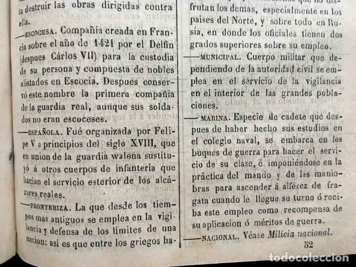 Militaria: DICCIONARIO MILITAR - 1863 - J.DW.M. - Foto 11 - 184053332