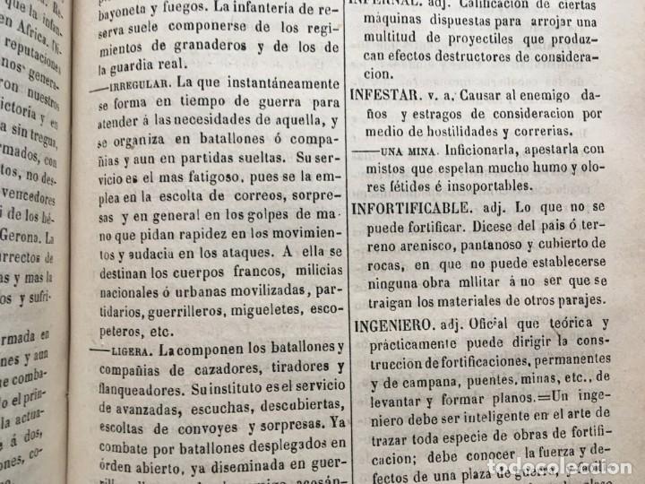 Militaria: DICCIONARIO MILITAR - 1863 - J.DW.M. - Foto 14 - 184053332