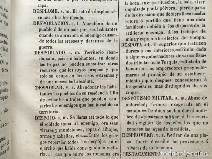 Militaria: DICCIONARIO MILITAR - 1863 - J.DW.M. - Foto 15 - 184053332