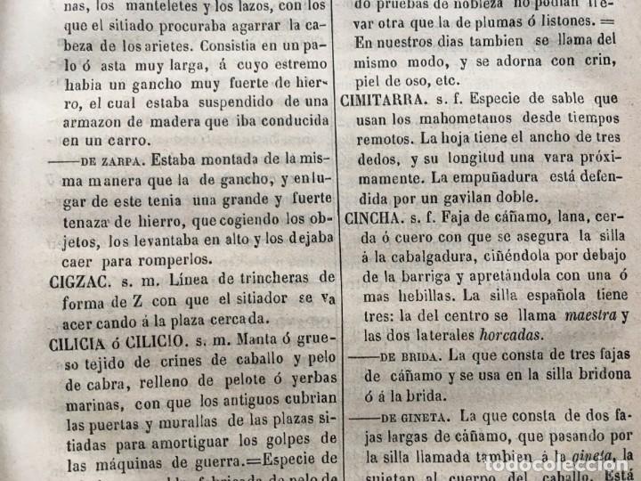 Militaria: DICCIONARIO MILITAR - 1863 - J.DW.M. - Foto 16 - 184053332