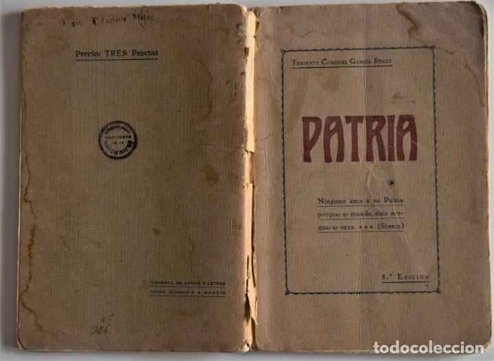 Militaria: PATRIA - TENIENTE CORONEL GARCÍA PÉREZ - IMPRENTA DE ARMAS Y LETRAS - 8º DE CABALLERÍA - Foto 2 - 184108397