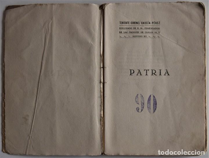 Militaria: PATRIA - TENIENTE CORONEL GARCÍA PÉREZ - IMPRENTA DE ARMAS Y LETRAS - 8º DE CABALLERÍA - Foto 3 - 184108397