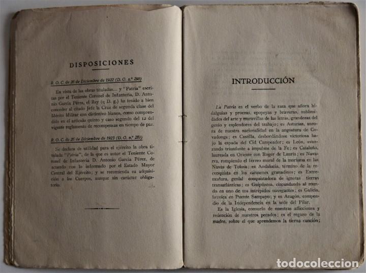 Militaria: PATRIA - TENIENTE CORONEL GARCÍA PÉREZ - IMPRENTA DE ARMAS Y LETRAS - 8º DE CABALLERÍA - Foto 5 - 184108397