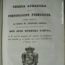 Militaria: 1846 TEORIA ANALÍTICA DE LA FORTIFICACION PERMANENTE CORONEL HERRERA. Lote 184169233