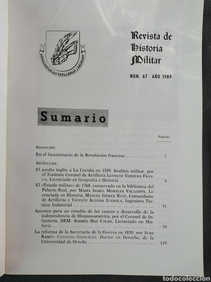 Militaria: REVISTA DE HISTORIA MILITAR - N. 67 - 1989 - Servicio Histórico Militar - Foto 3 - 184832900