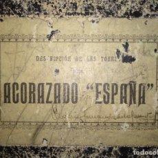 Militaria: MANUAL TORRE ACORAZADO ESPAÑA. Lote 184837330