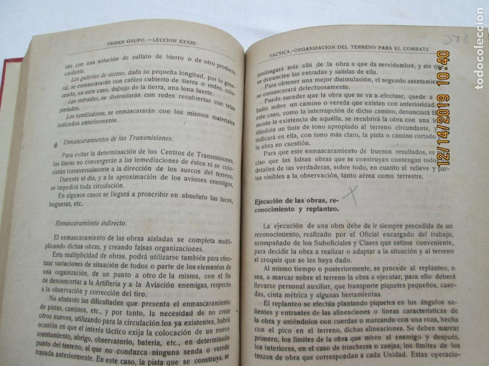 Militaria: TÁCTICA - PRIMER GRUPO / PRIMER CURSO - ACADEMIA DE INFANTERÍA - 1946. - Foto 3 - 187539928