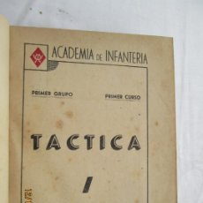 Militaria: TÁCTICA - PRIMER GRUPO / PRIMER CURSO - ACADEMIA DE INFANTERÍA - 1946.. Lote 187539928