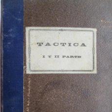 Militaria: TACTICA PRIMERA Y SEGUNDA PARTE - PRIMER CURSO/SEGUNDO CURSO - ACADEMIA DE INFANTERÍA 1947.. Lote 187598940
