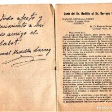 Militaria: LIBRO,DEDICATORIA Y FIRMA ORIGINAL DE MANUEL HEDILLA LARREY ,2º JEFE FALANGE ESPAÑOLA,GUERRA CIVIL. Lote 188476986