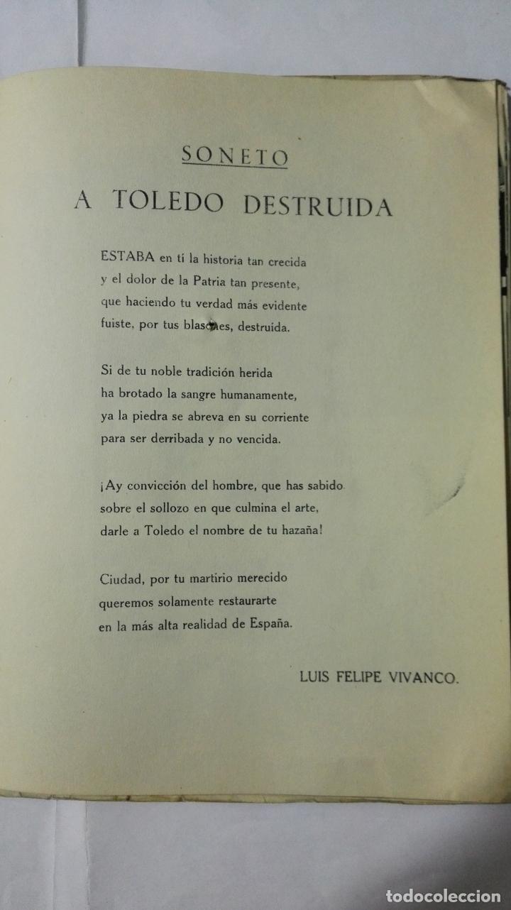 Militaria: EL ALCAZAR DE TOLEDO, PRIMERA RESISTENCIA - EL ASEDIO - FOTOGRAFIAS, AÑO 1939, EDITORA NACIONAL - Foto 2 - 188478290