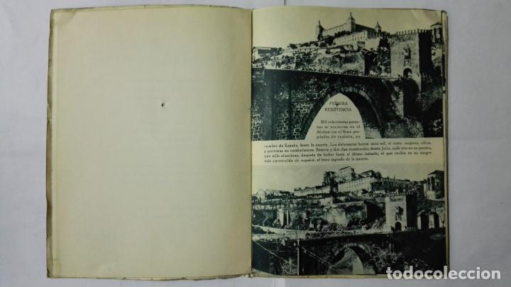 Militaria: EL ALCAZAR DE TOLEDO, PRIMERA RESISTENCIA - EL ASEDIO - FOTOGRAFIAS, AÑO 1939, EDITORA NACIONAL - Foto 3 - 188478290