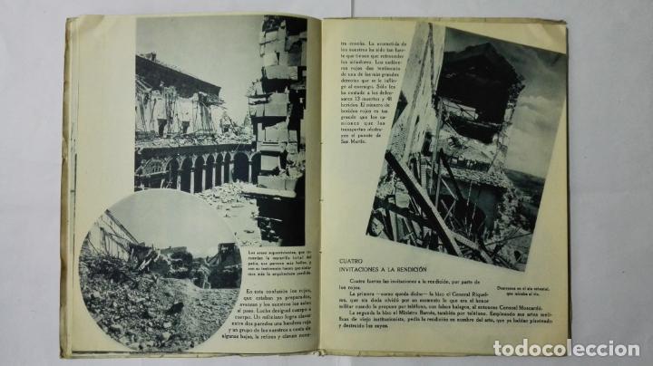 Militaria: EL ALCAZAR DE TOLEDO, PRIMERA RESISTENCIA - EL ASEDIO - FOTOGRAFIAS, AÑO 1939, EDITORA NACIONAL - Foto 6 - 188478290