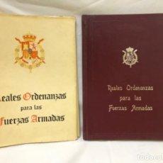Militaria: REALES ORDENANZAS PARA LAS FUERZAS ARMADAS 1 EDICION 1979 EXCELENTE ESTADO. Lote 188668491