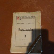 Militaria: ACADEMIA DE INFANTERIA , FERROCARRILES . 1945. Lote 188794365