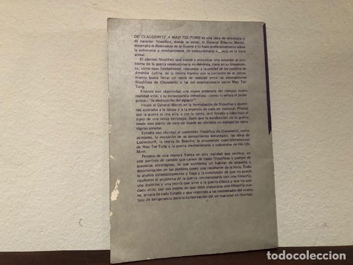 Militaria: De Clausewitz a Mao Tse-Tung. General Alberto Marini. Editorial Pleamar. Estrategia. Filosofia. - Foto 2 - 189230515