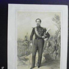 Militaria: 1851 LITOGRAFIA DEL BRIGADIER MARQUES DE MONTREAL Y DE SANTIAGO. Lote 189667720