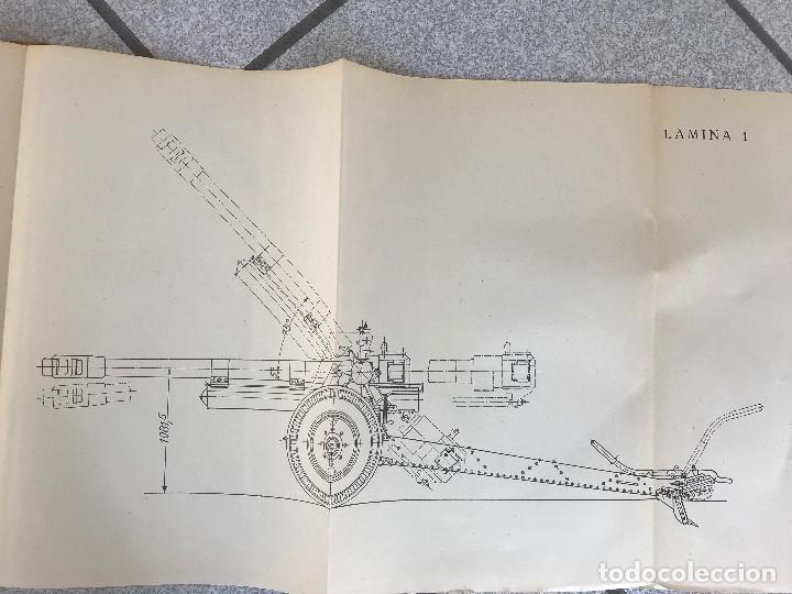 Militaria: Manual obús de 105/26 Modelo Reinosa 58, tapas duras con todas sus laminas edición 1959 - Foto 2 - 190065603