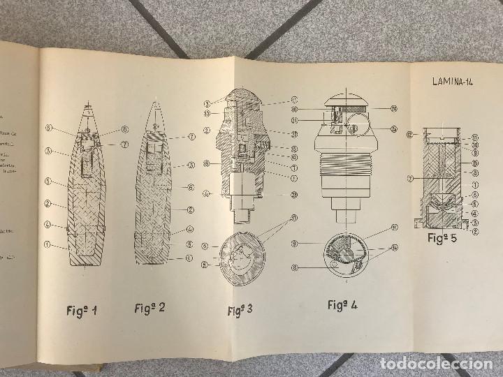 Militaria: Manual obús de 105/26 Modelo Reinosa 58, tapas duras con todas sus laminas edición 1959 - Foto 3 - 190065603