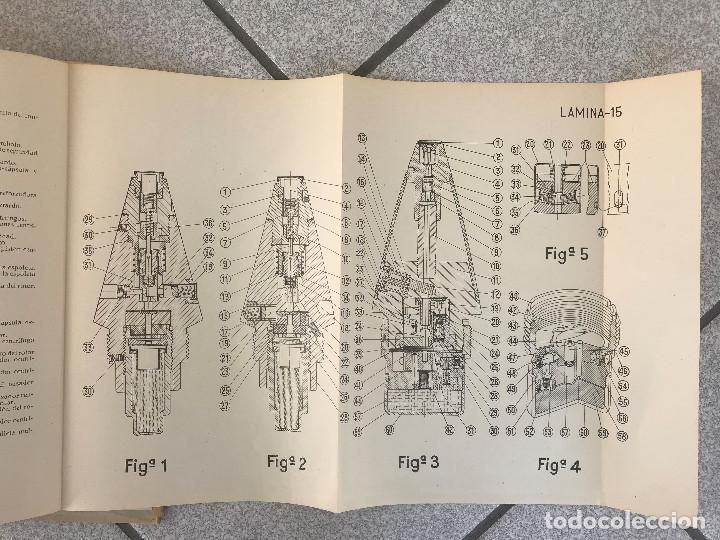 Militaria: Manual obús de 105/26 Modelo Reinosa 58, tapas duras con todas sus laminas edición 1959 - Foto 4 - 190065603