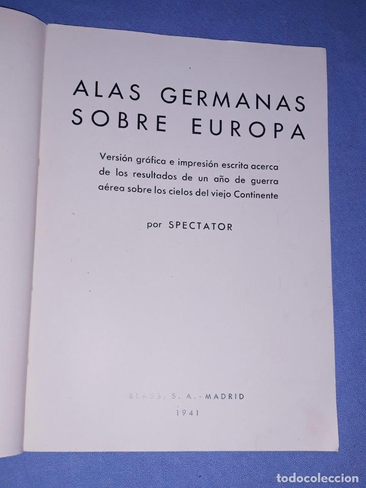 Militaria: ALAS GERMANAS SOBRE EUROPA SPECTATOR ORIGINAL AÑO 1941 - Foto 2 - 190331975
