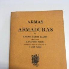 Militaria: ARMAS Y ARMADURAS ANTONIO GARCÍA LLANSO, COPIA FACSÍMIL. Lote 191098665