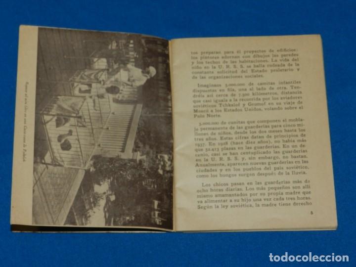 Militaria: (M) Libro Niños Sovieticos Ediciones Europa - Ámerica, Barcelona 1938 Tampón Escola de Militants JSO - Foto 3 - 191171116