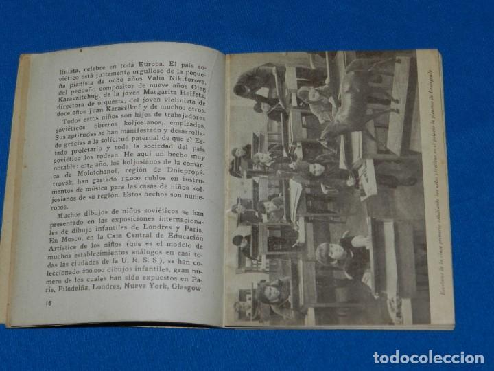 Militaria: (M) Libro Niños Sovieticos Ediciones Europa - Ámerica, Barcelona 1938 Tampón Escola de Militants JSO - Foto 4 - 191171116