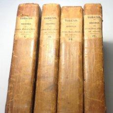Militaria: AÑO 1835 * GUERRA DE LA INDEPENDENCIA * 4 VOLUMENES * CASI 2.000 PAGINAS. Lote 191391300