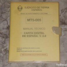 Militaria: CARTA DIGITAL DE ESPAÑA V.2.0 EJERCITO MILITAR. Lote 191656455