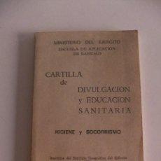 Militaria: CARTILLA DE DIVULGACION Y EDUCACION SANITARIA . Lote 192968378