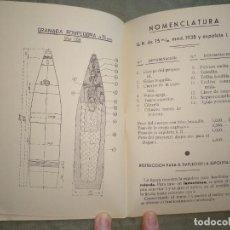 Militaria: TABLAS DE TIRO 7,5 75/28. Lote 194218988