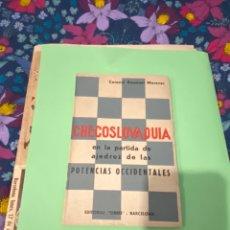Militaria: LIBRO CHECOSLOVAQUIA EN LA PARTIDA DE AJEDREZ.... Lote 194220572