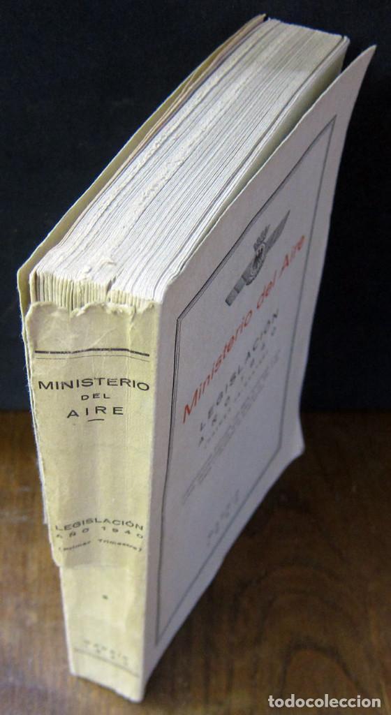 Militaria: MINISTERIO DEL AIRE - LEGISLACIÓN AÑO 1940 (PRIMER TRIMESTRE) - ESPAÑA, EJERCITO - INTONSO - Foto 2 - 194226195
