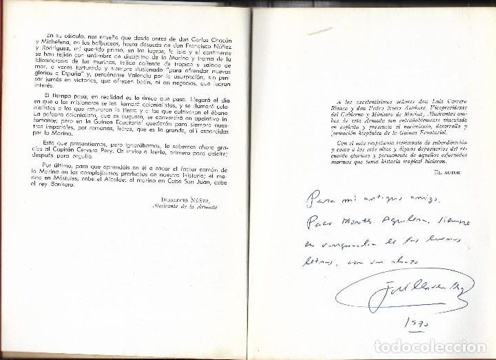 Militaria: MARINA ESPAÑOLA EN GUINEA ECUATORIAL Dedicatoria del autor RARISIMO - Foto 6 - 194226733