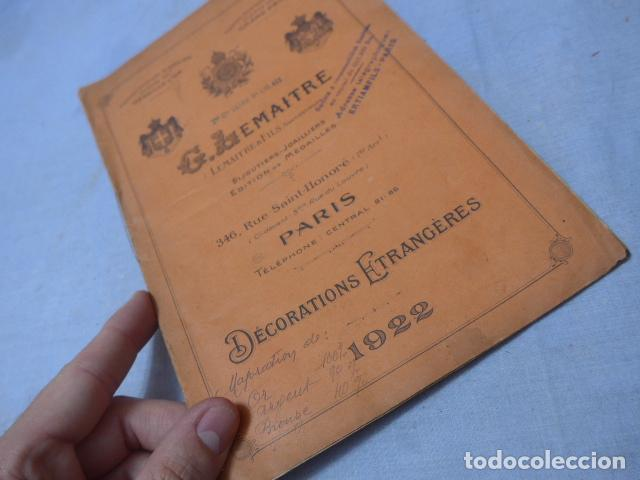 Militaria: * Lote 2 antiguo catalogo de medallas militares de años 20, extranjeros. ZX - Foto 8 - 194237197