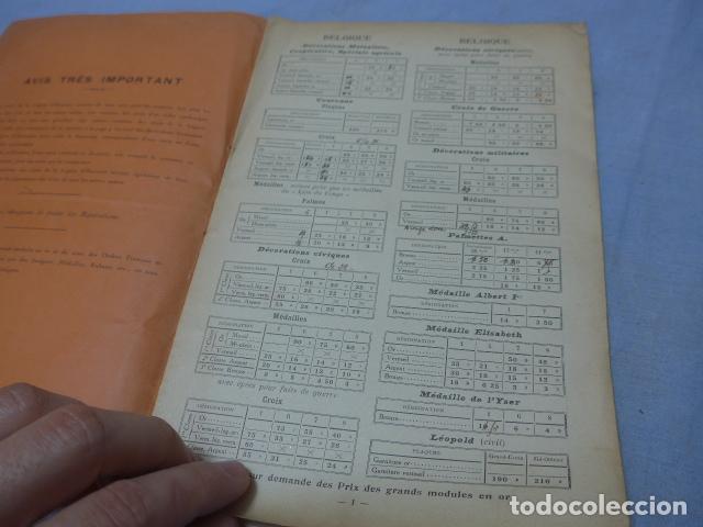 Militaria: * Lote 2 antiguo catalogo de medallas militares de años 20, extranjeros. ZX - Foto 9 - 194237197