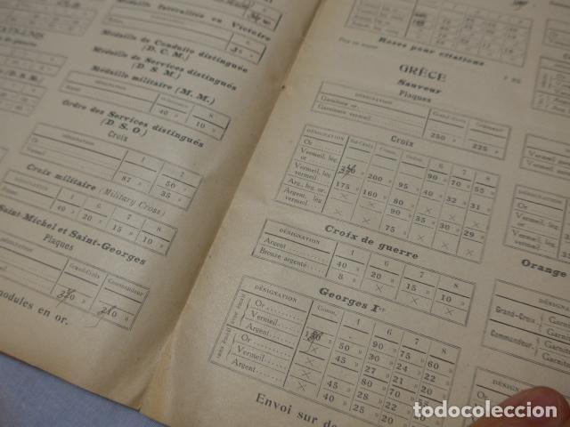Militaria: * Lote 2 antiguo catalogo de medallas militares de años 20, extranjeros. ZX - Foto 11 - 194237197