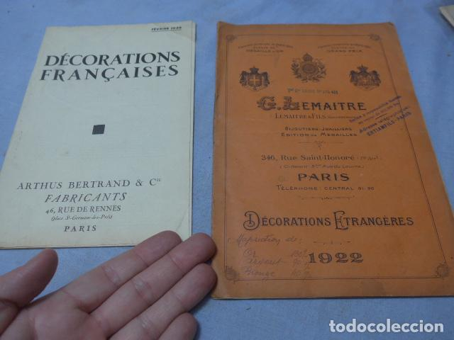 * LOTE 2 ANTIGUO CATALOGO DE MEDALLAS MILITARES DE AÑOS 20, EXTRANJEROS. ZX (Militar - Libros y Literatura Militar)