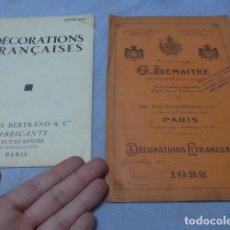 Militaria: * LOTE 2 ANTIGUO CATALOGO DE MEDALLAS MILITARES DE AÑOS 20, EXTRANJEROS. ZX. Lote 194237197