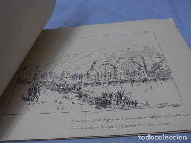 Militaria: * Antiguo album de campaña de laminas militares de 1881, original, guerra carlista. ZX - Foto 6 - 194239981
