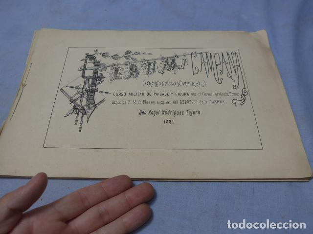 * ANTIGUO ALBUM DE CAMPAÑA DE LAMINAS MILITARES DE 1881, ORIGINAL, GUERRA CARLISTA. ZX (Militar - Libros y Literatura Militar)
