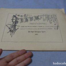 Militaria: * ANTIGUO ALBUM DE CAMPAÑA DE LAMINAS MILITARES DE 1881, ORIGINAL, GUERRA CARLISTA. ZX. Lote 194239981